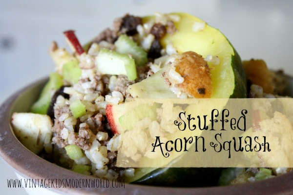 Stuffed Acorn Squash Recipe (and our garden update) :: Vintage Kids | Modern World
