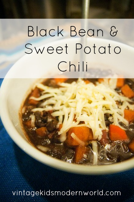 Black Bean and Sweet Potato Chili :: Vintage Kids | Modern World