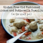 Gluten Free Old Fashioned Chicken and Buttermilk Dumplings :: VintageKidsModernWorld.com