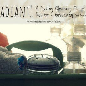 RADIANT! A Spring Cleaning Ebook Review + Giveaway! (plus a FREE printable!)