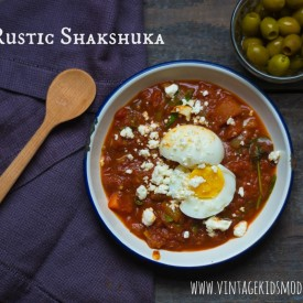 Rustic Shakshuka :: Vintage Kids | Modern World - a frugal, grain and gluten free tomato and egg main dish