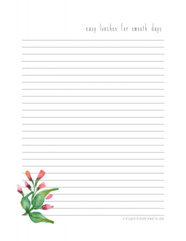 Charlotte Mason Inspired Multi-Year Naturalist Homeschooling Printable Planner from Vintage Kids Modern World